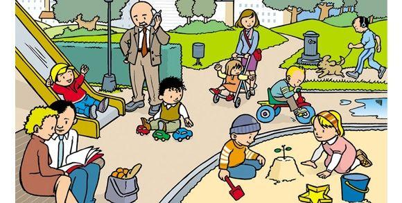 el parque en las ciudades