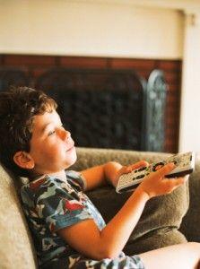 Boy with TV Remote no 3