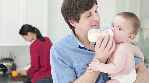 la leche materna caliente