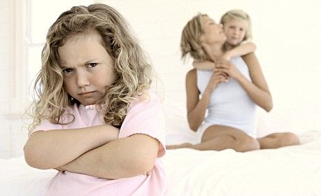 Girl Jealous of Mother and Sister