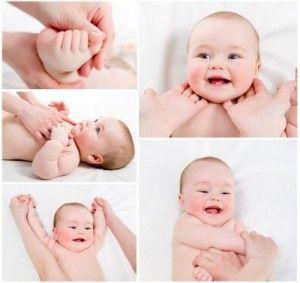 masaje infantil bebés