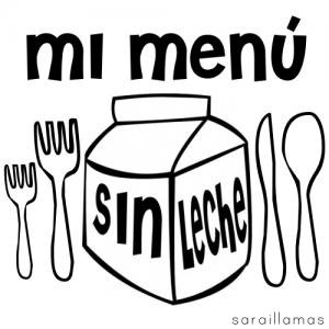 sin leche menu