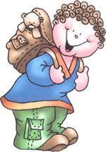 dibujo niño con mochila