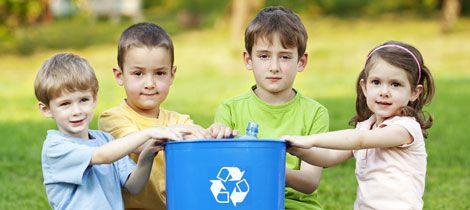 enseñar a los peques a reciclar