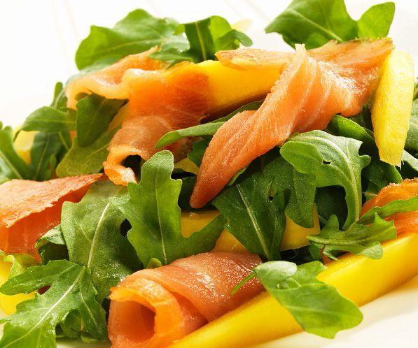salmón en ensalada