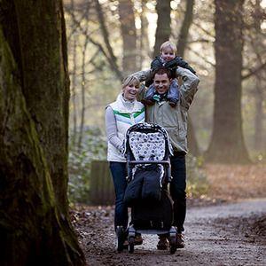el senderismo en familia