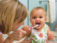la limpieza de dientes