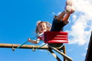 el parque infantil y la seguridad