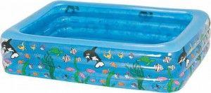este verano una piscina hinchable