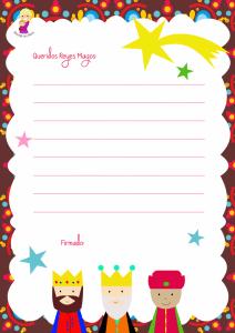 formato carta a los reyes magos