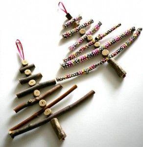 decoración navideña con los niños