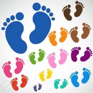 numeración del pie de bebé