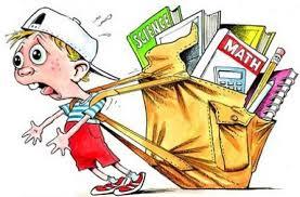 la mochila, una carga pesada para los peques