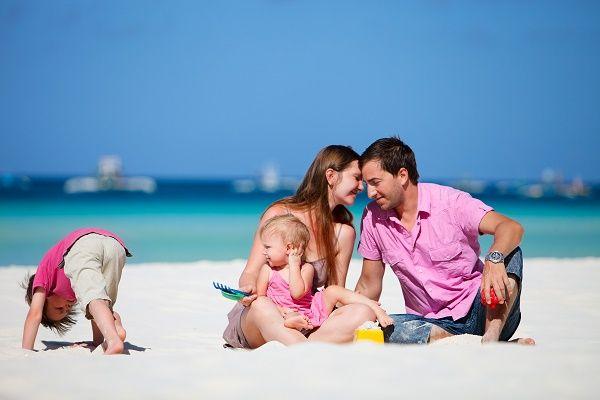 familia verano playa