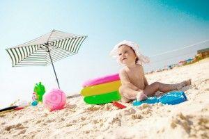 Bolsa de playa y bebes